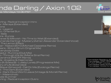 Now Playing: Axion 102 with Amanda Darling