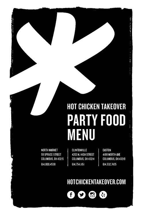 Party Food Menus (pack of 500)