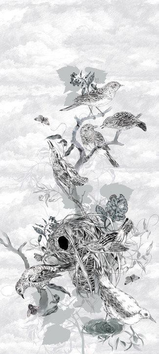 The Hedge Sparrows Wallcovering
