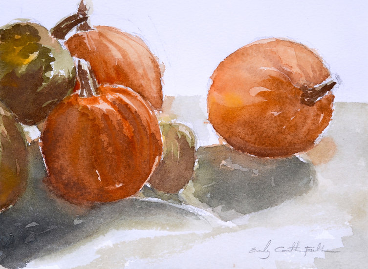 Pumpkin Still Life - ORIGINAL