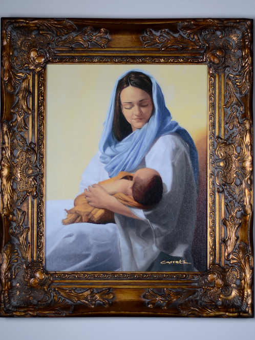 Mary Holding Christ Print