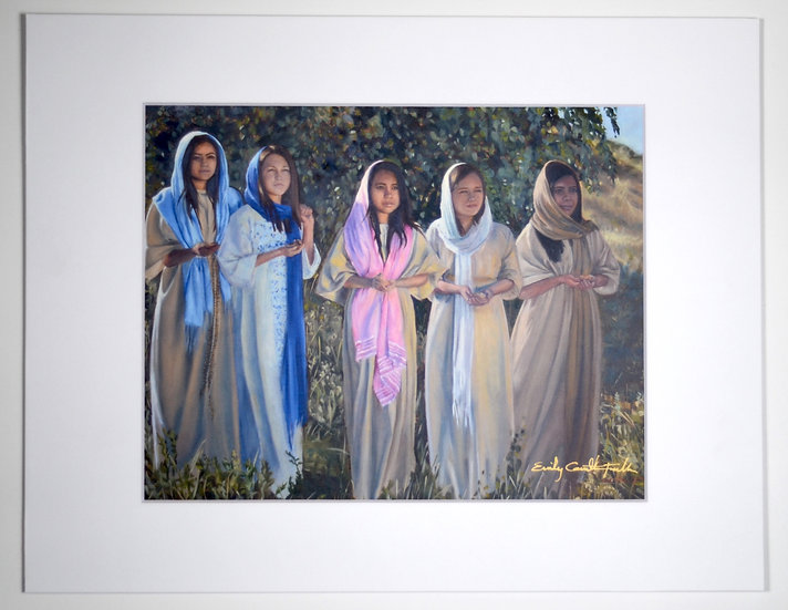"""The Five Who Were Wise – 11x14"""" Print"""