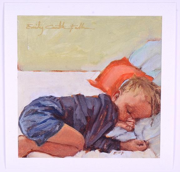 Sleeping Child - Canvas Print