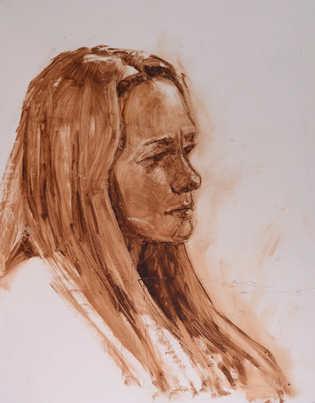 Live Model Oil Sketch V.IV