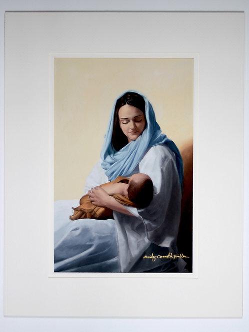 Mary Holding Christ Print