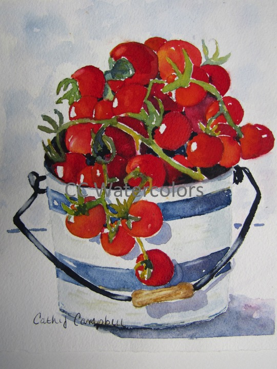 """""""A Pail of Cherry Tomatoes"""""""