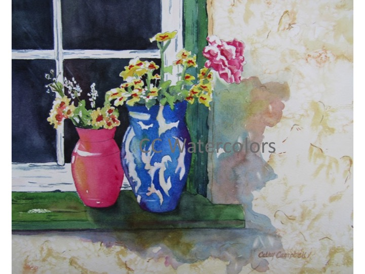 """Flowers on the Windowsill"""