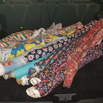 Saving rolls of fabric from landfill