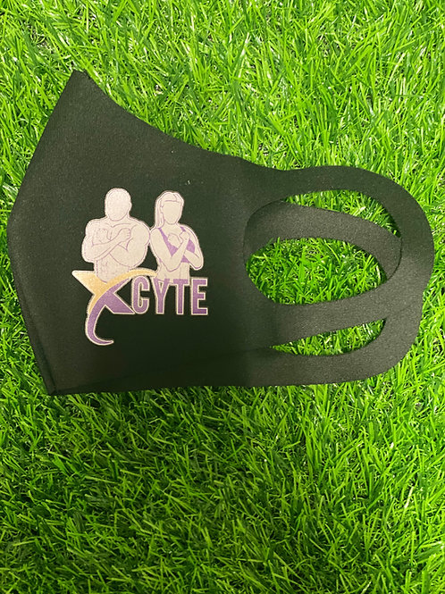 Black Washable Fabric Face Mask - Stretchy & Soft Face Covering