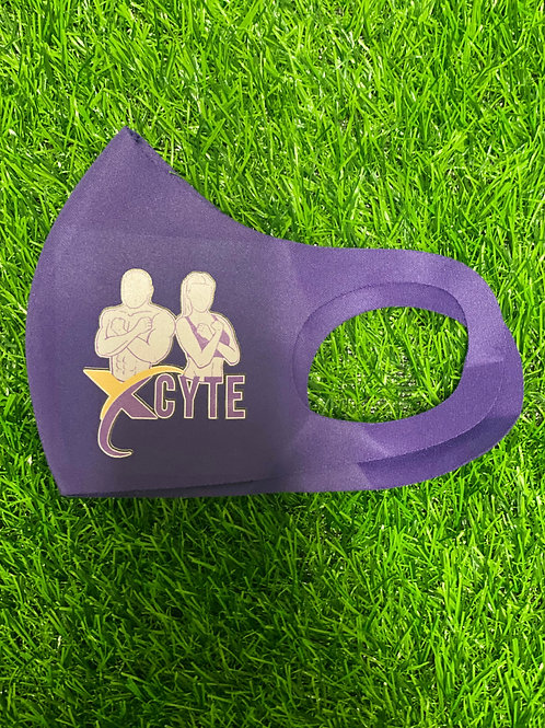 Purple Washable Fabric Face Mask - Stretchy & Soft Face Covering