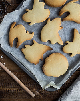 Biscoitos do cozimento do Dia das Bruxas