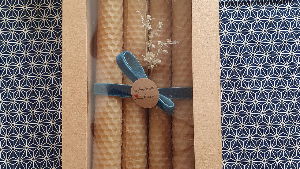 Beeswax Candles in Gift Box