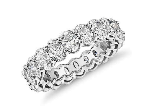 Oval Cut Diamond Band