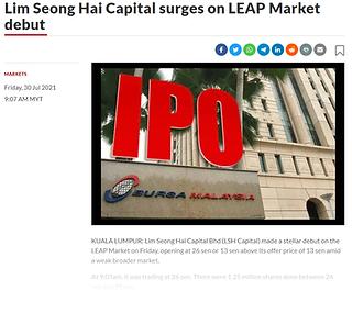 The Star - LSH Cap surges on LEAP Market debut 2021.07.30.png