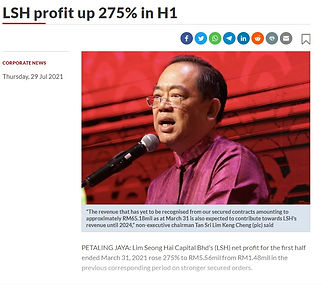 The Star - LSH profit up 275% in H1 2021.07.29.jpg