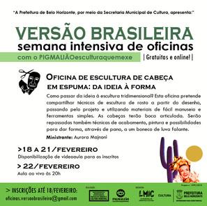 OFICINA DE ESCULTURA DE CABEÇA EM ESPUMA