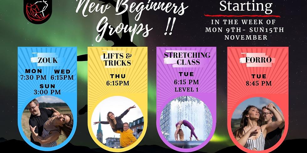 New ONLINE Beginners Courses start 09.-15. November 2020