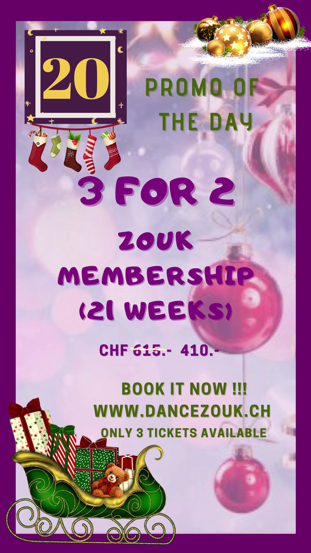 DanceZouk - Advent Calendar - Day 20