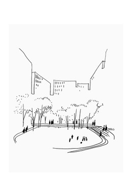 AMANO Courtyard croquis Paris LBH Arch