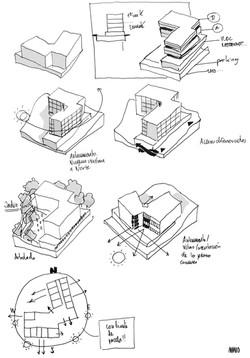 AMANO EHPAD LaCigale sketch d Switzerland JA Architectes