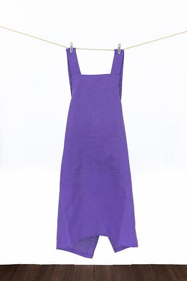 Linen Apron - Haze Purple