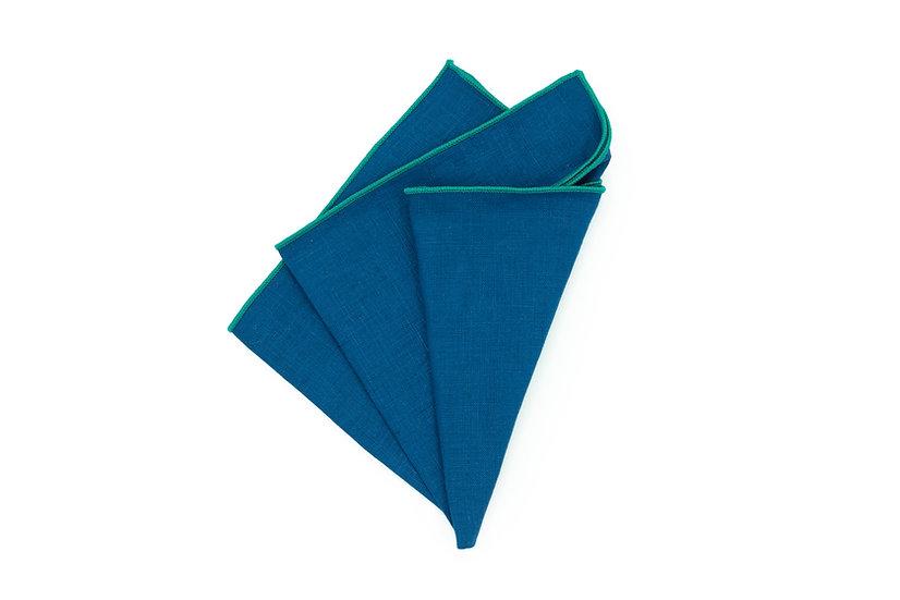 Pocket Square - Cerulean Blue