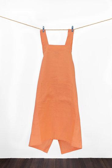Linen Apron -Orange
