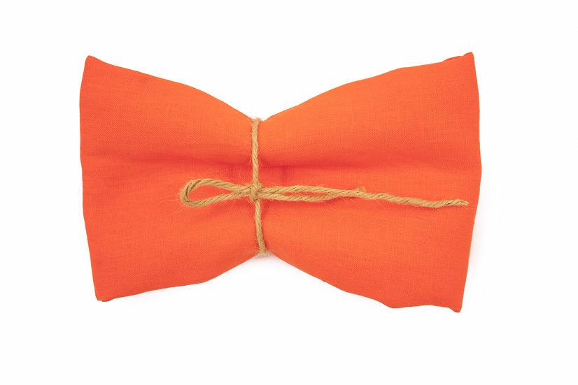Medium Weight Pure Linen - Orange