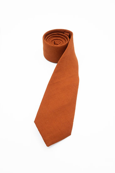 Pure Linen Tie - Medium Coral
