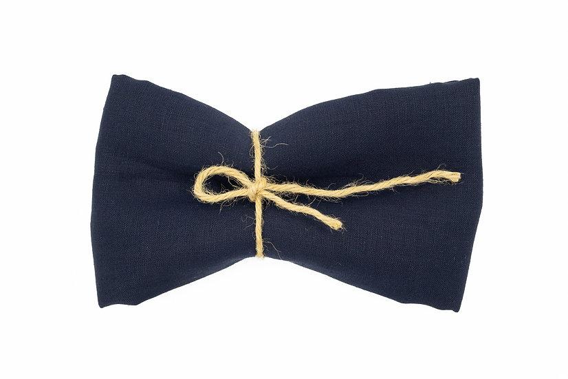 Medium Weight Pure Linen - Mid Night Navy