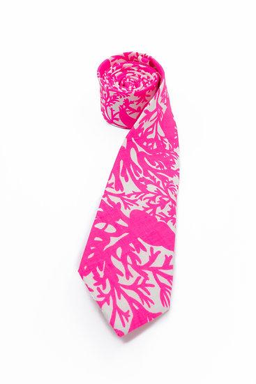 Pure Linen Tie - Shocking Pink