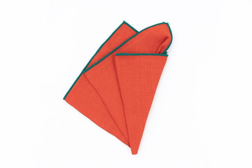 Pocket Square - Carrot Orange