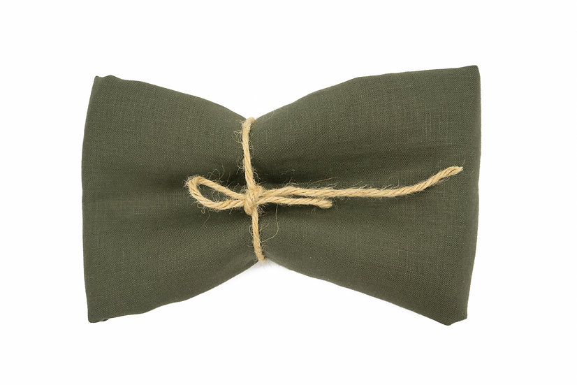 Medium Weight Pure Linen - Olive