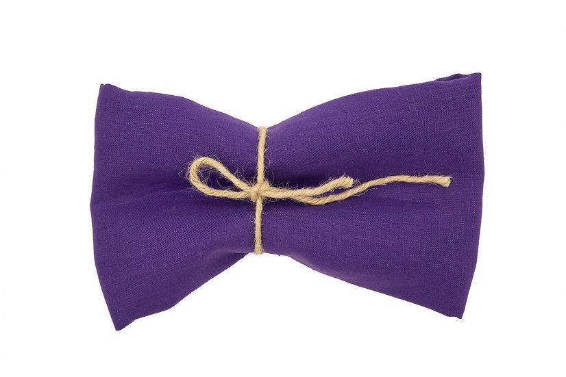 Medium Weight Pure Linen - Mid Night Purple