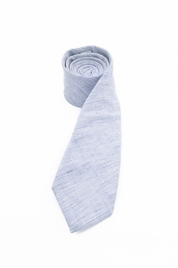 Pure Linen Tie - Navy End on End