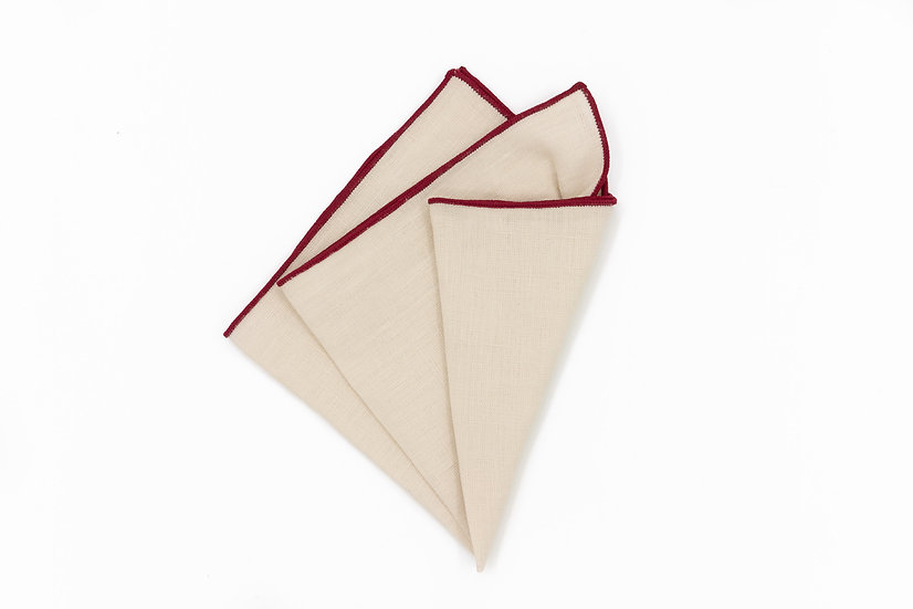 Pocket Square - Cream