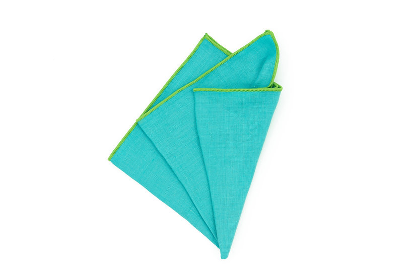 Pocket Square - Caribbean Turquoise