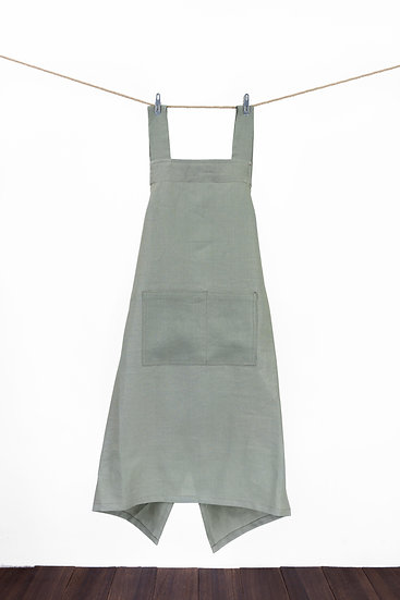 Linen Apron - Warm Grey