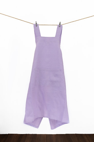 Linen Apron - Wisteria Purple