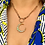 Thumbnail: 💜MARGOT💜 Victorian Opal and Diamond Crescent Pendant