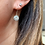 Thumbnail: Art Deco 9ct Gold & Sparkling Paste 10mm flowerhead earrings