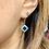 Thumbnail: Art Deco Silver & Sparkling Blue Paste earrings