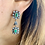 Thumbnail: Victorian Emerald & Diamond Dangle Drop earrings