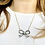 Thumbnail: Victorian Silver & Sparkling Paste Bow with 9ct Gold 18inch chain