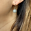 Thumbnail: Art Deco Silver, Sparkling Paste & Simulated Pearl Drop earrings