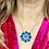 Thumbnail: Vintage Royal Blue Pendant 16inch Gold filled chain
