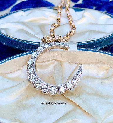 💛OLIVIA💛 Brilliant Cut Diamond Crescent Moon Pendant. Approx 3.86cts