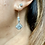 Thumbnail: Art Deco Silver & Sparkling Paste Square cut earrings