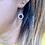 Thumbnail: Art Deco Sparkling Red & White Paste Flowerheads 9ct Gold hooks
