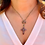 Thumbnail: Georgian Garnet Crucifix Silver Gilt with new hidden bail